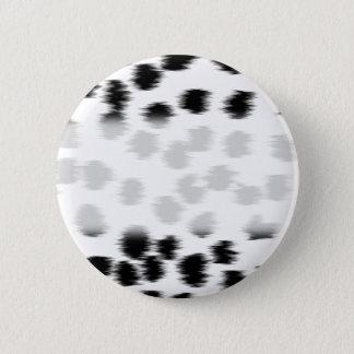 Black and White Dalmatian Print Pattern. Button
