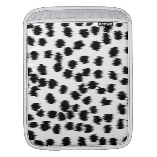 Black and White Dalmatian Print Pattern. Sleeves For iPads