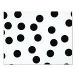 "Black and White Dalmatian Spot Pattern. 4.25"" X 5.5"" Invitation Card"