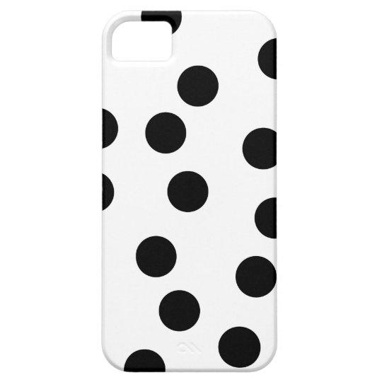 Black and White Dalmatian Spot Pattern. iPhone SE/5/5s Case