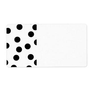 Black and White Dalmatian Spot Pattern. Shipping Label