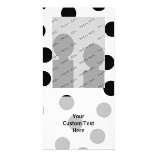 Black and White Dalmatian Spot Pattern. Photo Card