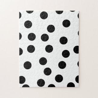Black and White Dalmatian Spot Pattern. Puzzle