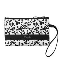 Black and White Dalmatian Spots Change Purse