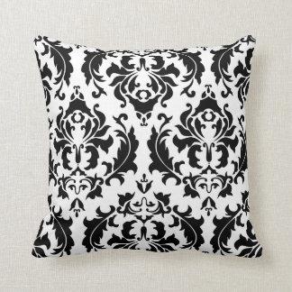 Black and White Damask American MOJO Pillow