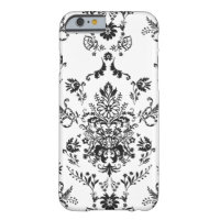Black and White Damask Barely There iPhone 6 Case