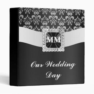 Black and white damask binder