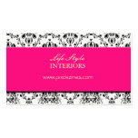 Black and White, Damask Business Cards