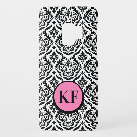 Black and White Damask Cat Case-Mate Samsung Galaxy S9 Case