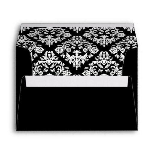 Black and White Damask Envelope Envelope