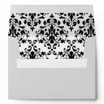 Black and White Damask Envelope