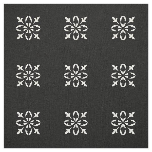 Black and white damask fabric