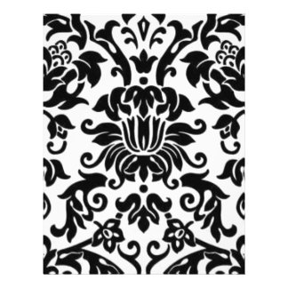 Black and White Damask Flyer