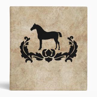 Black and White Damask Horse Binders