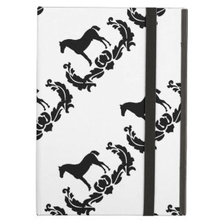 Black and White Damask Horse iPad Air Cover