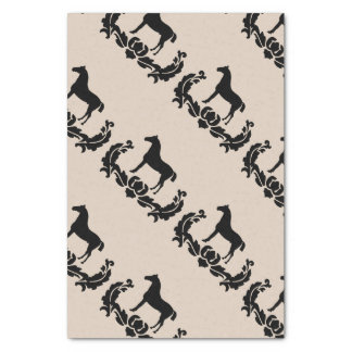 Black and White Damask Horse Tissue Paper