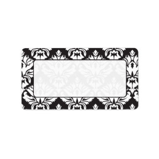 Black And White Damask Mailing Lables Personalized Address Labels