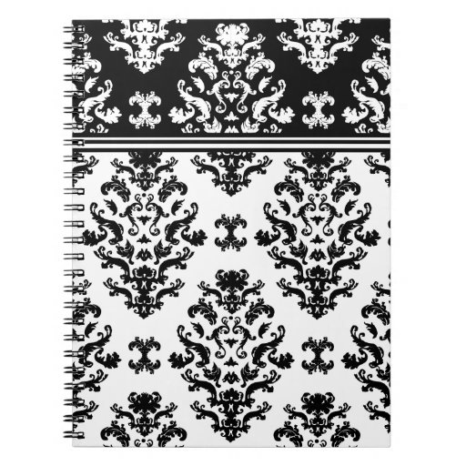 Black and white damask notebook r61139bf00f1644689e05976f03adc837 ambg4 8byvr 512