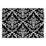 Black and White Damask Pattern Cards