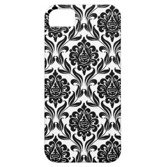 Black and White Damask Pattern Iphone 5 Case