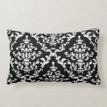 Black and White Damask Pattern Pillow