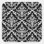 Black and White Damask Pattern Sticker