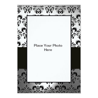 BLACK AND WHITE  DAMASK PHOTO TEMPLATE