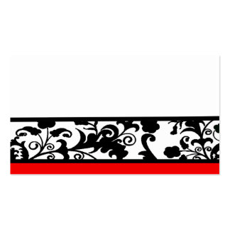 Black and White damask place cards Business Card Template