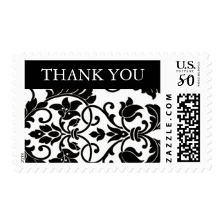 Black and White Damask Postage