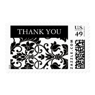 Black and White Damask Stamps