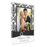Black and White Damask Wedding Canvas Gallery Wrapped Canvas