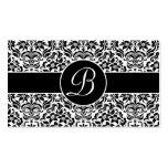 Black and White Damask Wedding Gift Registry Cards Business Card Templates