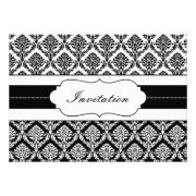 Black and white damask wedding invites by mgdezigns