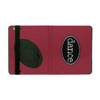 Black and White Dance Oval iPad Folio Case