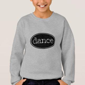 Black and White Dance Oval Sweatshirt