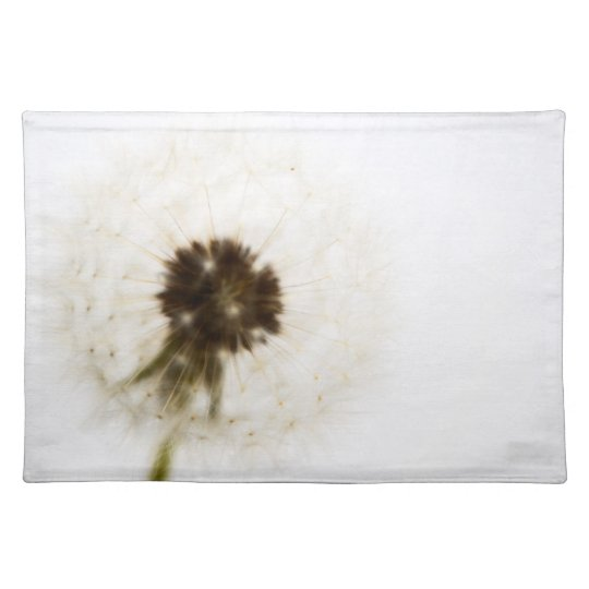 Black and White Dandelion Cloth Placemat