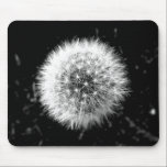 """Black and white dandelion mouse pad<br><div class=""""desc"""">Photo taken by CarlyLouPhotography in Lincolnshire,  UK.</div>"""