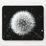"Black and white dandelion mouse pad<br><div class=""desc"">Photo taken by CarlyLouPhotography in Lincolnshire,  UK.</div>"