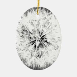 Black and White Dandelion Ornaments