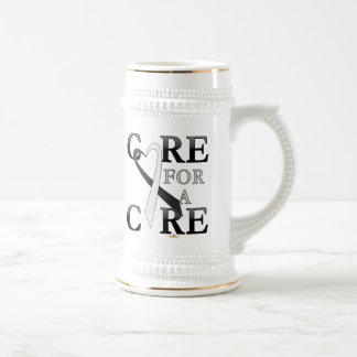 Black And White Dark Care For A Cure Design Beer Stein