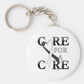Black And White Dark Care For A Cure Design Keychains