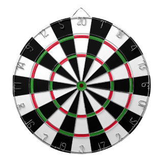 Black and White Dart Board