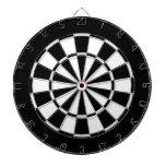 black and white dart board