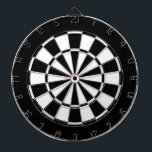 "black and white dartboard<br><div class=""desc"">DEAR CUSTOMERS: Please note that this design prints off center. The fixed design for this board can be found here: http://www.zazzle.com/black_and_white_dart_board-256183686861808603?rf=238412752684280060