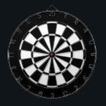 "Black and White Dartboard<br><div class=""desc"">Black and white dart board.</div>"