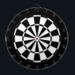"Black and white dartboard with darts<br><div class=""desc"">Black and white dart for a common looks.</div>"