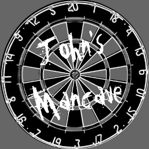 24efa88c Black and white dartboard with funny quote for men