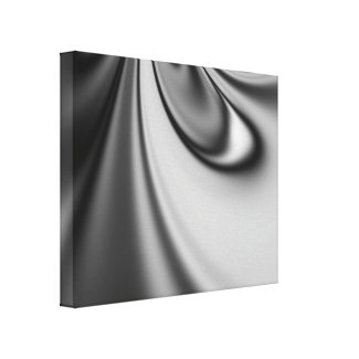 Black and White Days Fractal Wrapped Canvas Canvas Prints