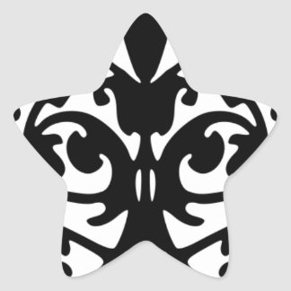 Black And White De Mask Pattern Star Sticker