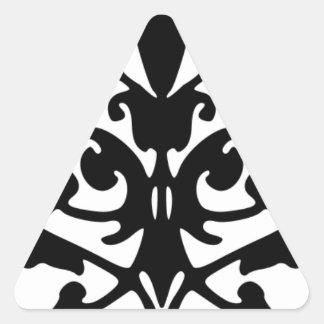 Black And White De Mask Pattern Triangle Sticker